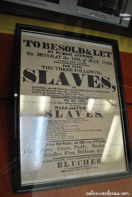 afiș care anunța vânzarea sclavilor
