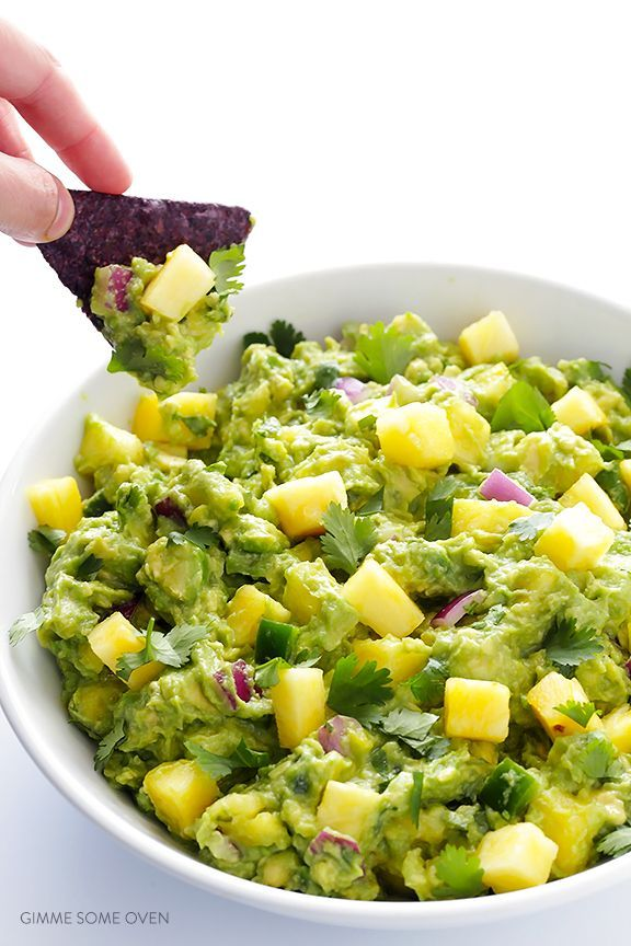 guacamole cu ananas/ via pinterest
